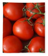 Vine Ripe Tomatoes Fine Art Food Photography Fleece Blanket
