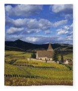 Vineyard In Alsace, France Fleece Blanket
