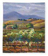 Vineyard In California Fleece Blanket