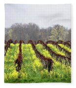 Vineyard In Westfield Fleece Blanket