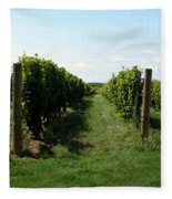 Vineyard On The Peninsula Fleece Blanket