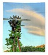 Vineyard Propeller Fleece Blanket