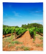 Vineyard Rows Fleece Blanket