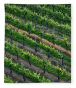 Vineyard Rows - Slovenia Fleece Blanket