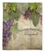 Vineyard Series - Chateau Pinot Noir Vineyards Sign Fleece Blanket