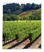 Vineyards In Sonoma County Fleece Blanket
