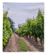 Vineyards Of Old Color Horizontal Fleece Blanket