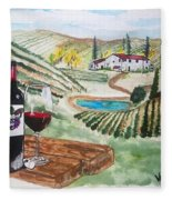Vineyards Of Tuscany  Fleece Blanket