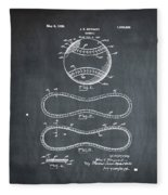 Vintage 1928 Baseball Patent Chalk Fleece Blanket