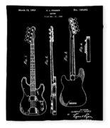 Vintage 1953 Fender Base Patent Fleece Blanket
