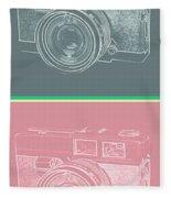 Vintage 35mm Film Camera Pop Art Totem Fleece Blanket