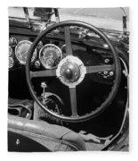 Vintage Aston Martin Dashboard Fleece Blanket