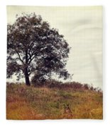 Vintage Autumn Fleece Blanket