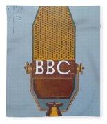 Vintage Bbc Mic Fleece Blanket