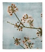 Vintage Blossoms Fleece Blanket