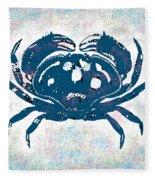 Vintage Blue Crab Fleece Blanket
