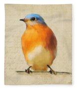 Vintage Bluebird Fleece Blanket
