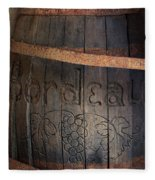 Vintage Bordeaux Wine Barrel Without Its X Fleece Blanket