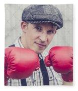 Vintage Boxers Fleece Blanket