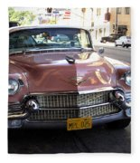 Vintage Cadillac. Luxury From The Past Fleece Blanket