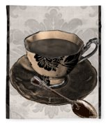 Vintage Cafe Iv Fleece Blanket