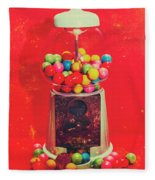 Vintage Candy Store Gum Ball Machine Fleece Blanket