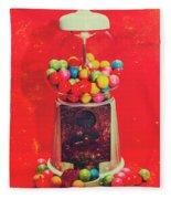 Vintage Candy Store Gum Ball Machine Fleece Blanket