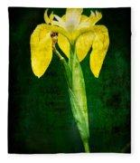 Vintage Canna Lily Fleece Blanket
