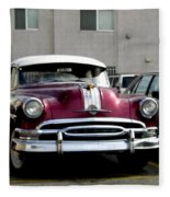 Vintage Car From 1940's Era Fleece Blanket