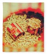 Vintage Carnival Snack Booth Fleece Blanket