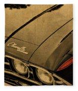 Vintage Chevrolet Chevelle Hood Fleece Blanket