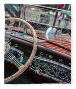 Vintage Chris Craft Fleece Blanket