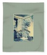 Vintage Christmas Fleece Blanket