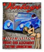 Vintage Classic Sign Fleece Blanket