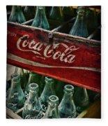 Vintage Coca Cola 1 Fleece Blanket