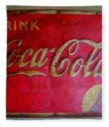 Vintage Coca-cola Sign Fleece Blanket