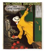 Vintage Coffee Advert - Circa 1920's Fleece Blanket
