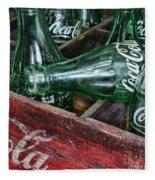 Vintage Coke Square Format Fleece Blanket