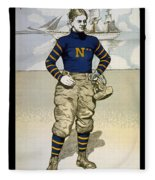 Vintage College Football Annapolis Fleece Blanket