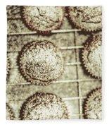 Vintage Cooking Background Fleece Blanket