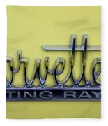 Vintage Corvette Sting Ray Emblem Fleece Blanket