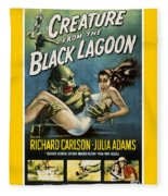 Vintage Creature From The Black Lagoon Poster Fleece Blanket