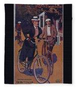 Vintage Cycle Poster March Davis Cycle 100 Dollars Fleece Blanket