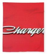 Vintage Dodge Charger Logo Fleece Blanket