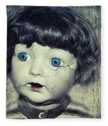 Vintage Doll Fleece Blanket