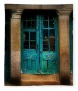 Vintage Doors Fleece Blanket