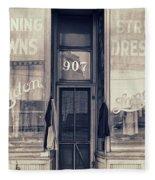 Vintage Dress Shop Fleece Blanket