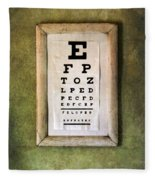 Vintage Eye Chart Fleece Blanket