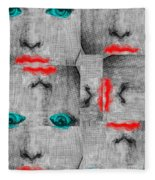 Vintage Faces Fleece Blanket