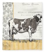 Vintage Farm 4 Fleece Blanket